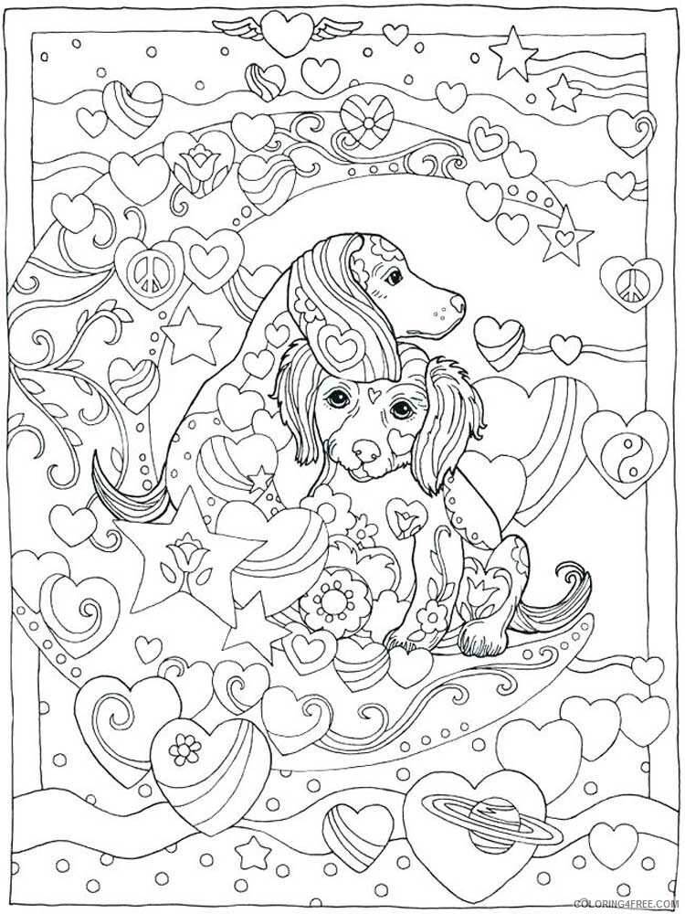 Dog for Adults Coloring Pages dog for adults 22 Printable 2020 580 Coloring4free