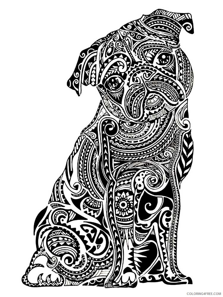 Dog for Adults Coloring Pages dog for adults 9 Printable 2020 584 Coloring4free