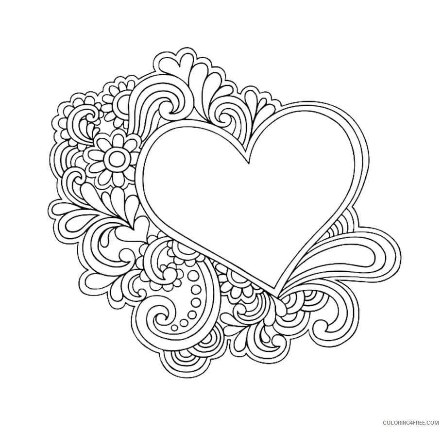 Doodle Coloring Pages Adult Color Doodle Art Printable 2020 323 Coloring4free