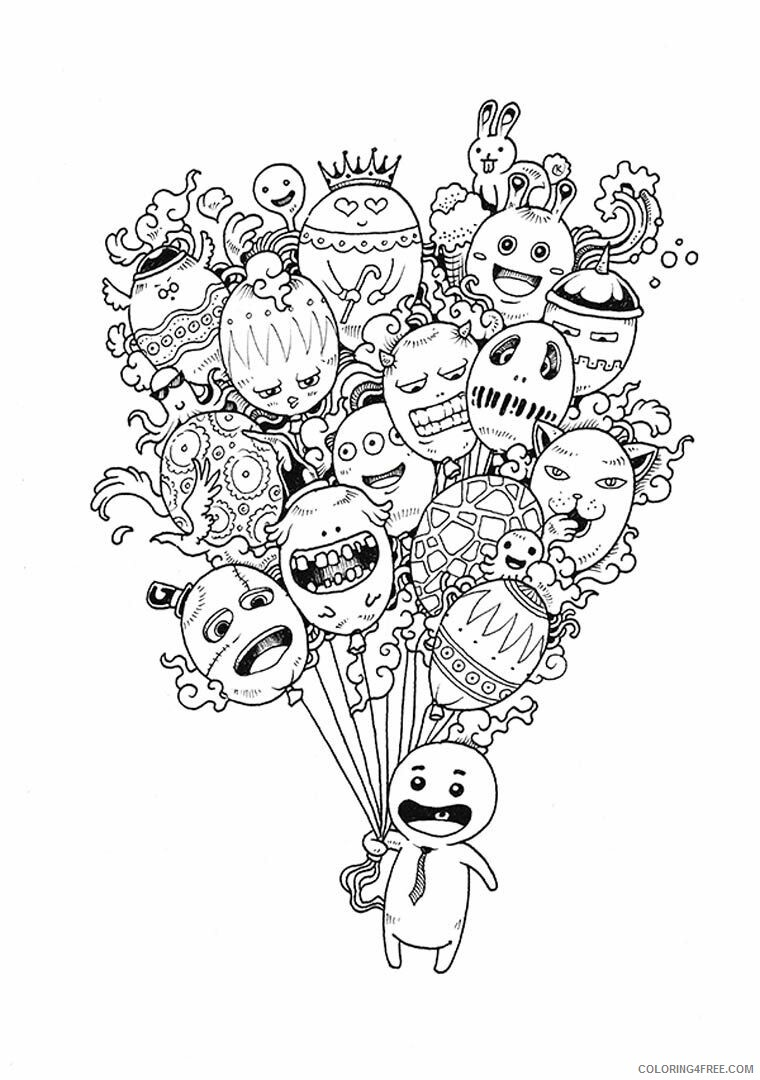 Doodle Coloring Pages Adult Doodle Art Printable 2020 324 Coloring4free