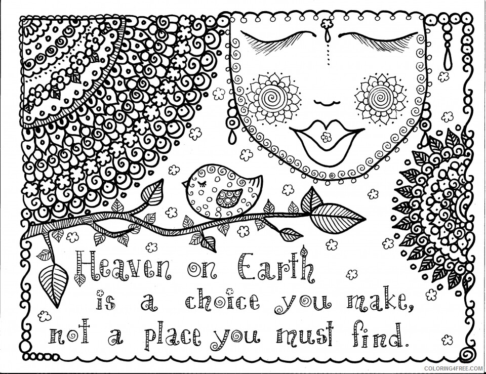 Doodle Coloring Pages Adult Doodle Heaven Printable 2020 352 Coloring4free