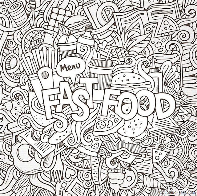 Doodle Coloring Pages Adult Free Doodle Printable 2020 357 Coloring4free