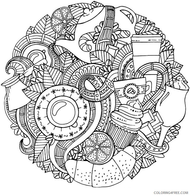 Doodle Coloring Pages Adult Free Doodle for Adults Printable 2020 356 Coloring4free