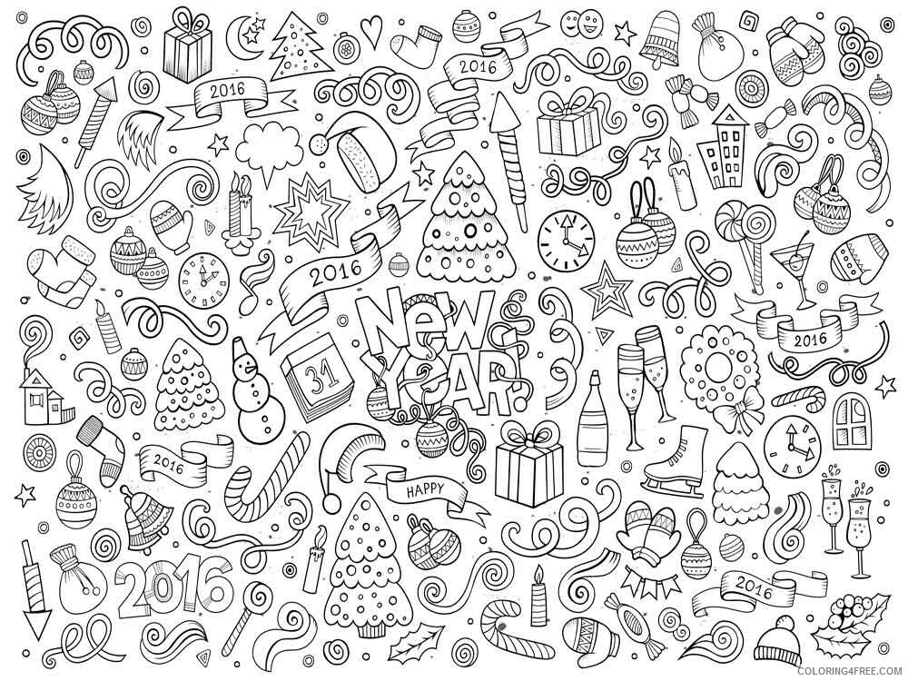 Doodle Coloring Pages Adult doodle adults 13 Printable 2020 329 Coloring4free