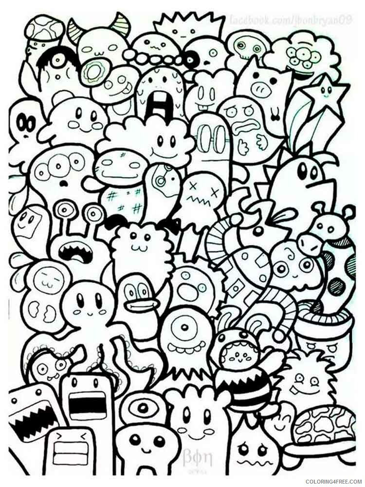 Doodle Coloring Pages Adult doodle adults 2 Printable 2020 335 Coloring4free