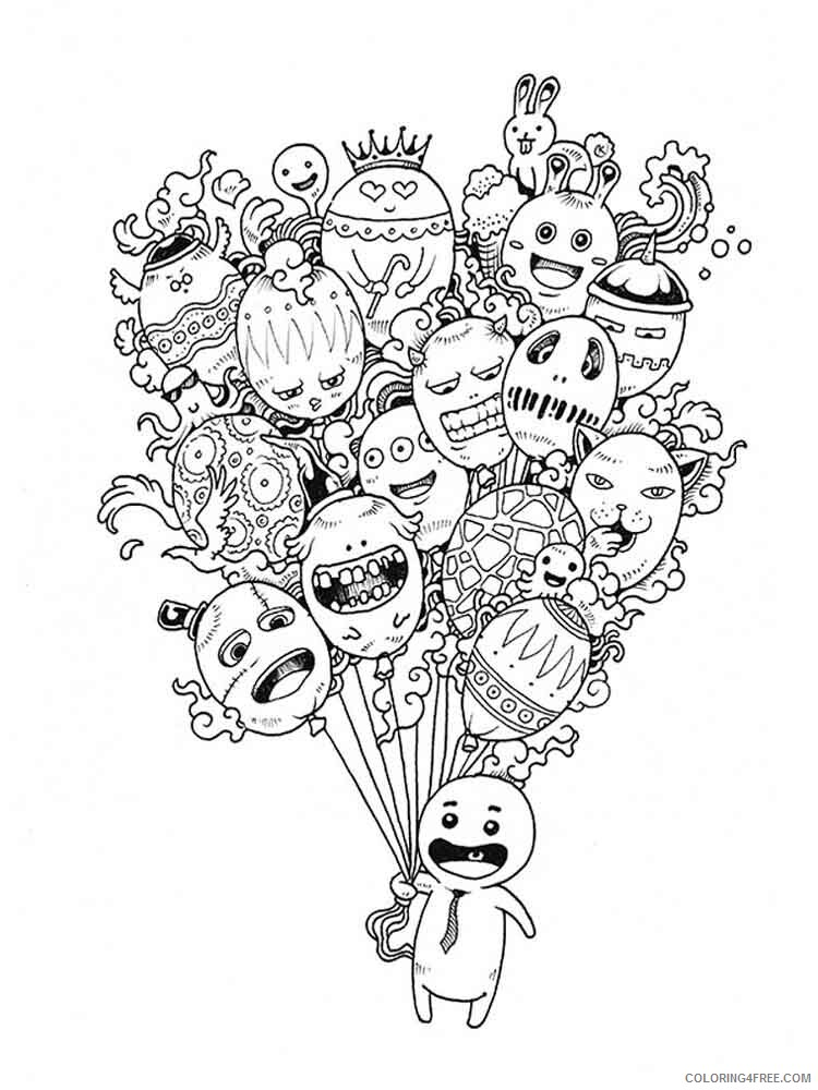 Doodle Coloring Pages Adult doodle adults 20 Printable 2020 336 Coloring4free