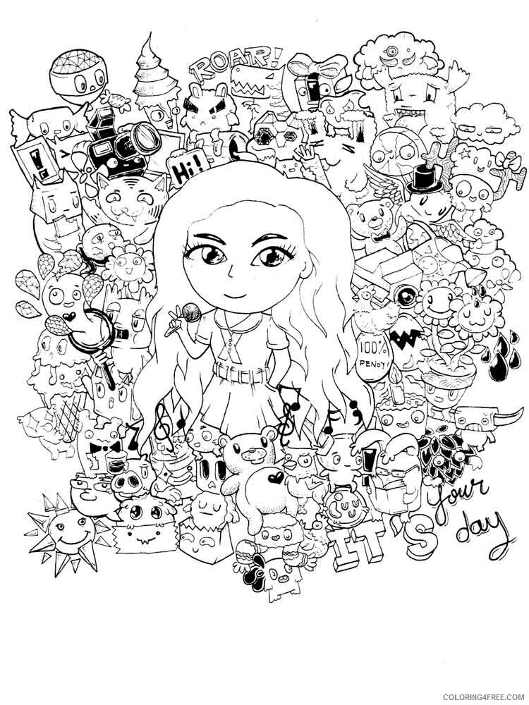 Doodle Coloring Pages Adult doodle adults 25 Printable 2020 339 Coloring4free