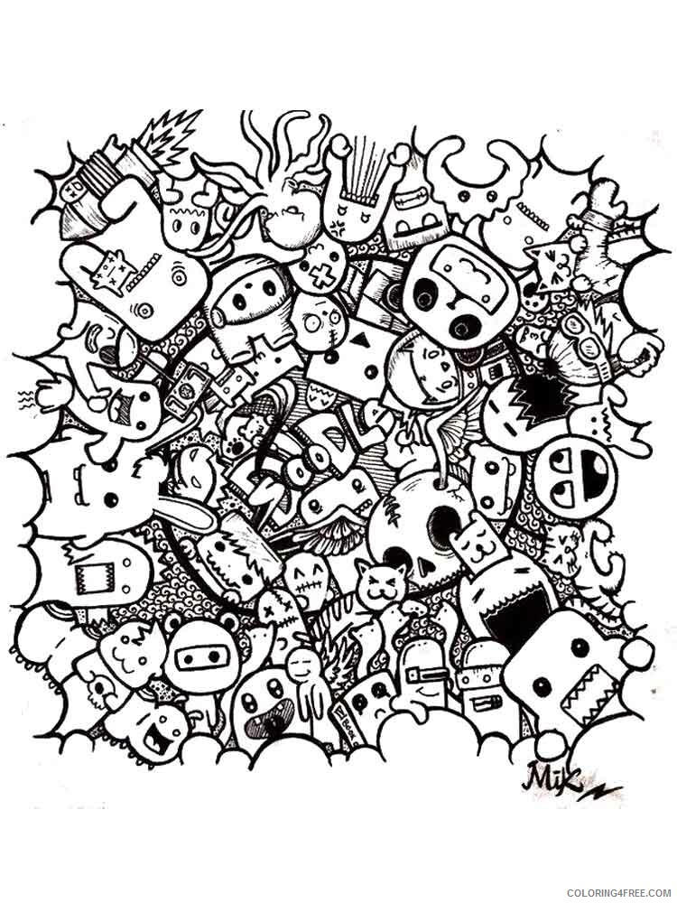 - Doodle Coloring Pages Adult Doodle Adults 8 Printable 2020 349  Coloring4free - Coloring4Free.com