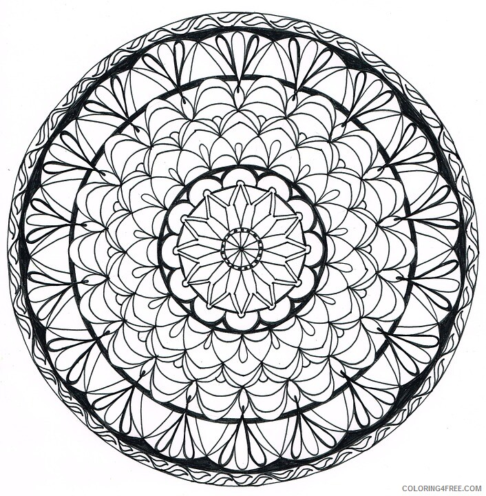 Doodle Coloring Pages Adult zendoodle patterns Printable 2020 361 Coloring4free