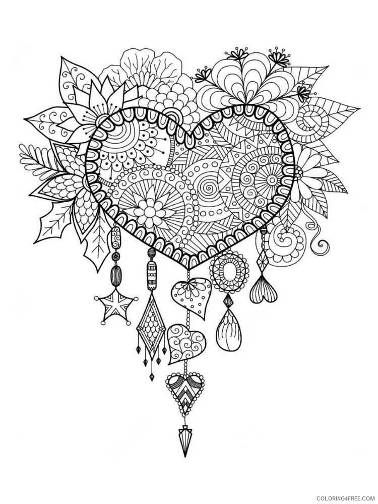 Dream Catcher Coloring Pages Adult dream catcher for adults 18 Printable 2020 370 Coloring4free