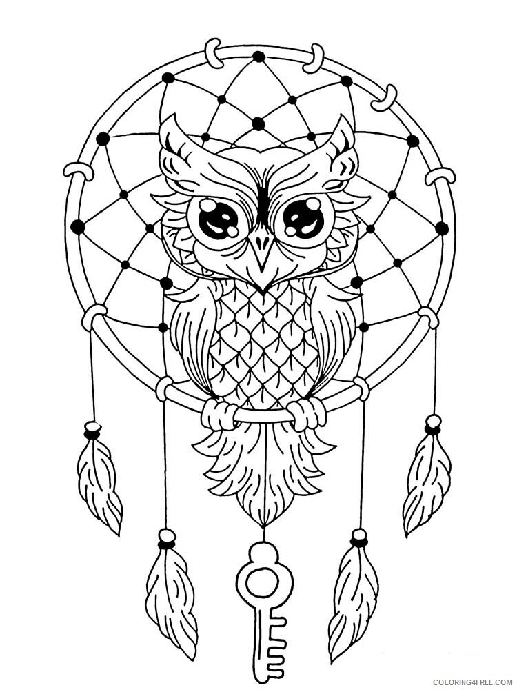 Dream Catcher Coloring Pages Adult dream catcher for adults 20 Printable 2020 373 Coloring4free