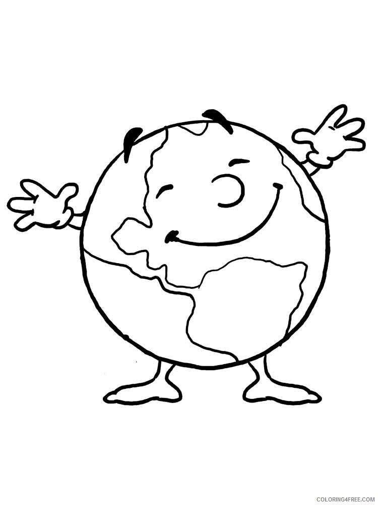 Earth Coloring Pages Educational Educational Earth 9 Printable 2020 1450 Coloring4free Coloring4free Com