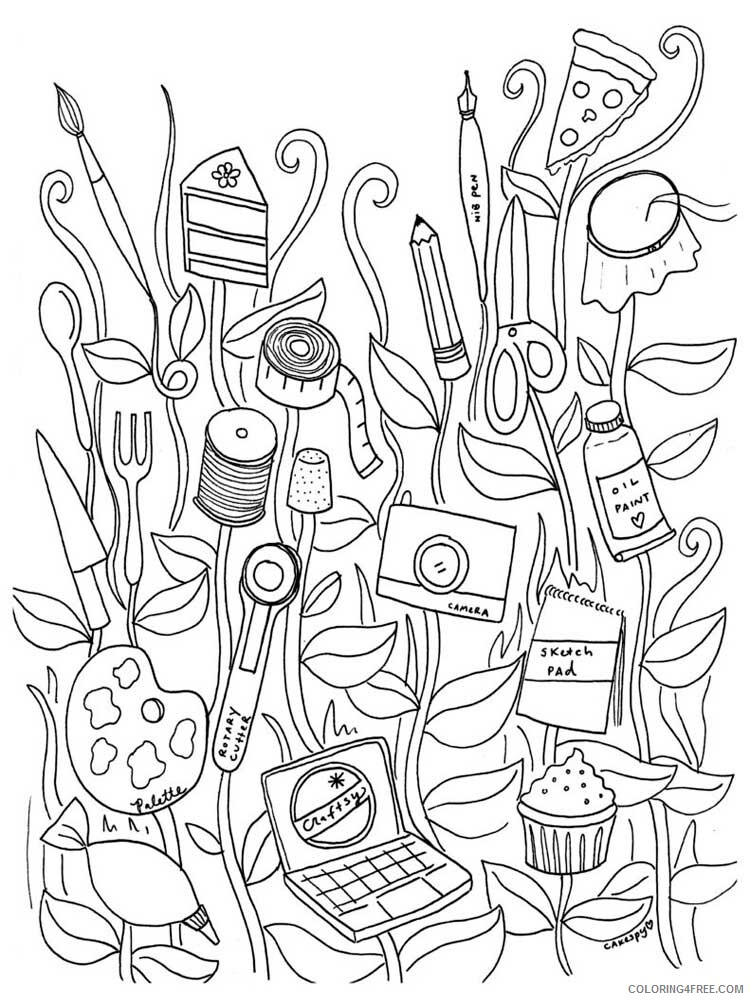 Easy for Adults Coloring Pages easy for adults 15 Printable 2020 590 Coloring4free