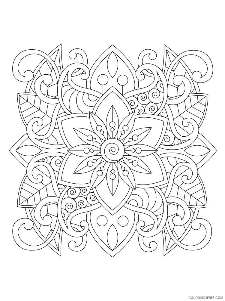 Easy for Adults Coloring Pages easy for adults 3 Printable 2020 601 Coloring4free