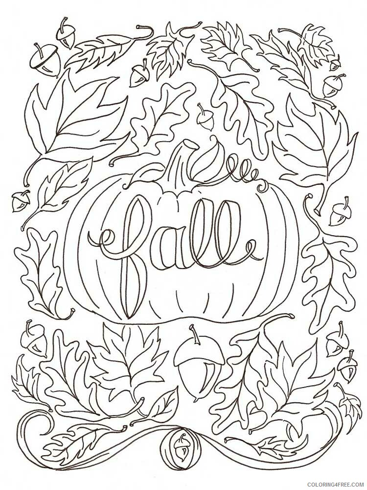 Fall for Adults Coloring Pages fall for adults 3 Printable 2020 608 Coloring4free