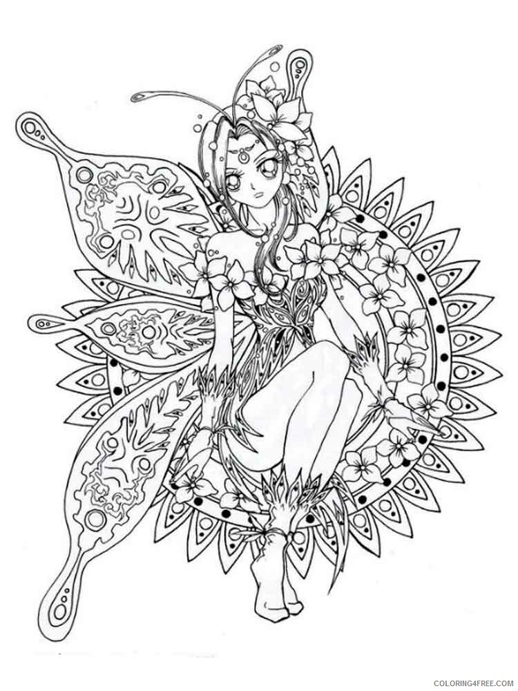 Fantasy for Adults Coloring Pages fantasy for adults 3 Printable 2020 617 Coloring4free