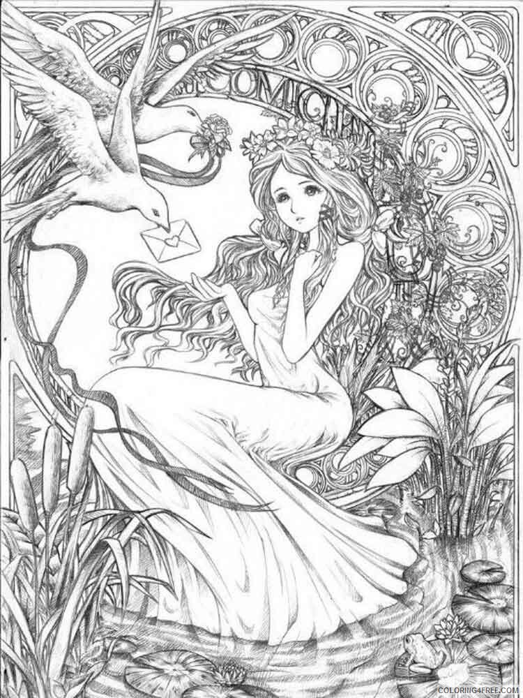 Fantasy for Adults Coloring Pages fantasy for adults 8 Printable 2020 620 Coloring4free