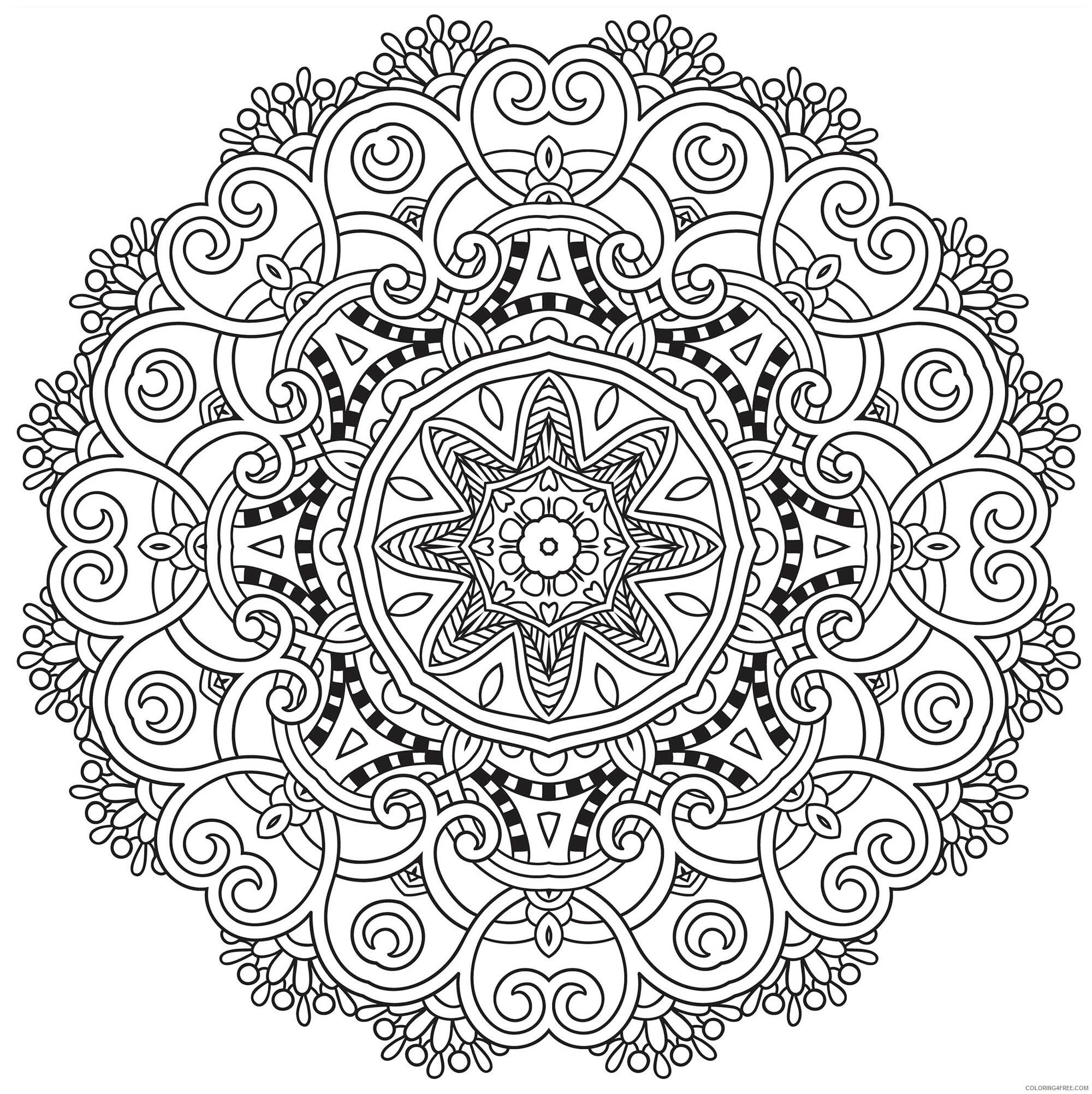 Flower Mandala Coloring Pages Adult Flower Mandala Adult Printable 2020 386 Coloring4free