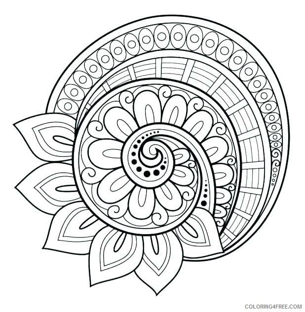 Flower Mandala Coloring Pages Adult Flower Mandala Adult Printable 2020 387 Coloring4free