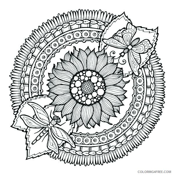 Flower Mandala Coloring Pages Adult Flower Mandala for Adult Printable 2020 398 Coloring4free