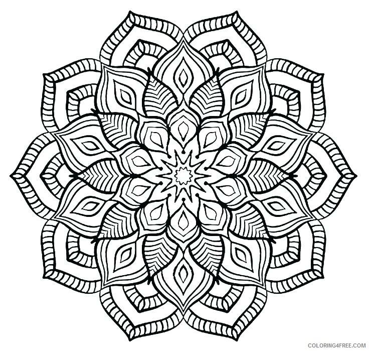 Flower Mandala Coloring Pages Adult Free Flower Mandala Printable 2020 401 Coloring4free