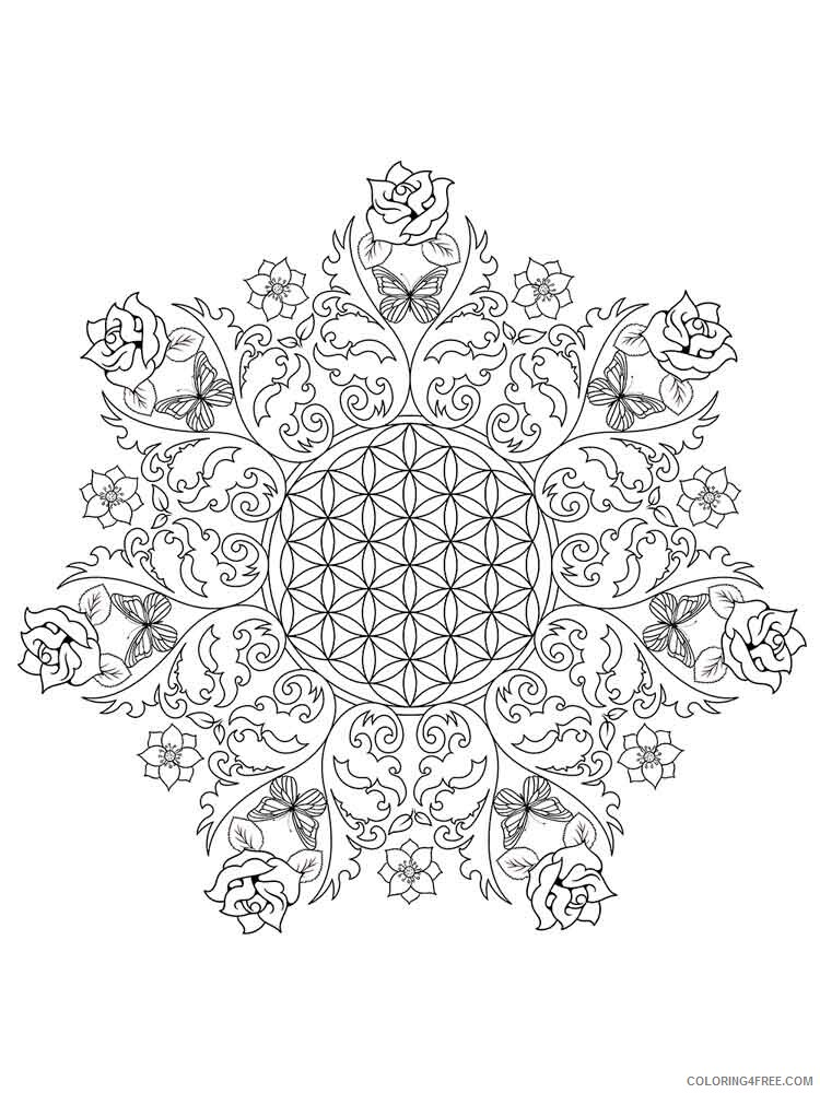 Flower Mandala Coloring Pages Adult flower mandala adult 11 Printable 2020 388 Coloring4free