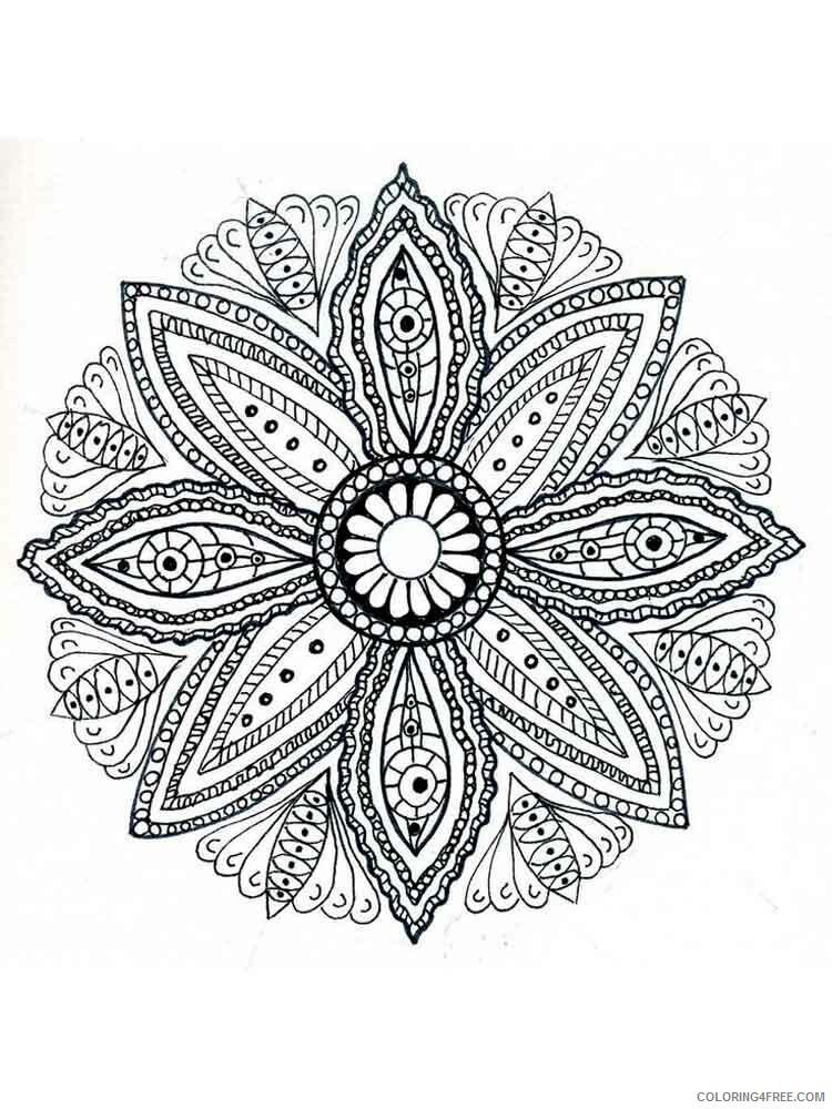 Flower Mandala Coloring Pages Adult flower mandala adult 13 Printable 2020 390 Coloring4free