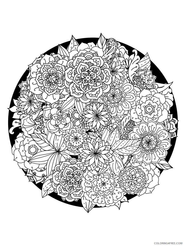 Flower Mandala Coloring Pages Adult flower mandala adult 14 Printable 2020 391 Coloring4free