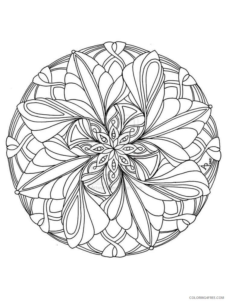 Flower Mandala Coloring Pages Adult flower mandala adult 15 Printable 2020 392 Coloring4free