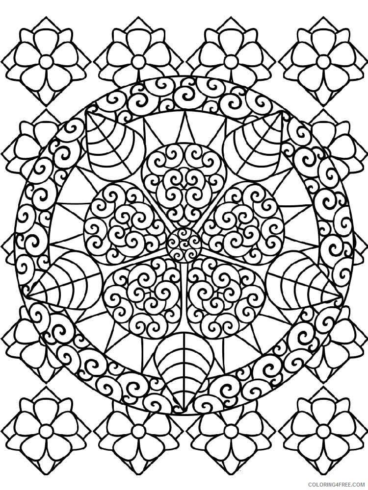 Flower Mandala Coloring Pages Adult flower mandala adult 9 Printable 2020 395 Coloring4free