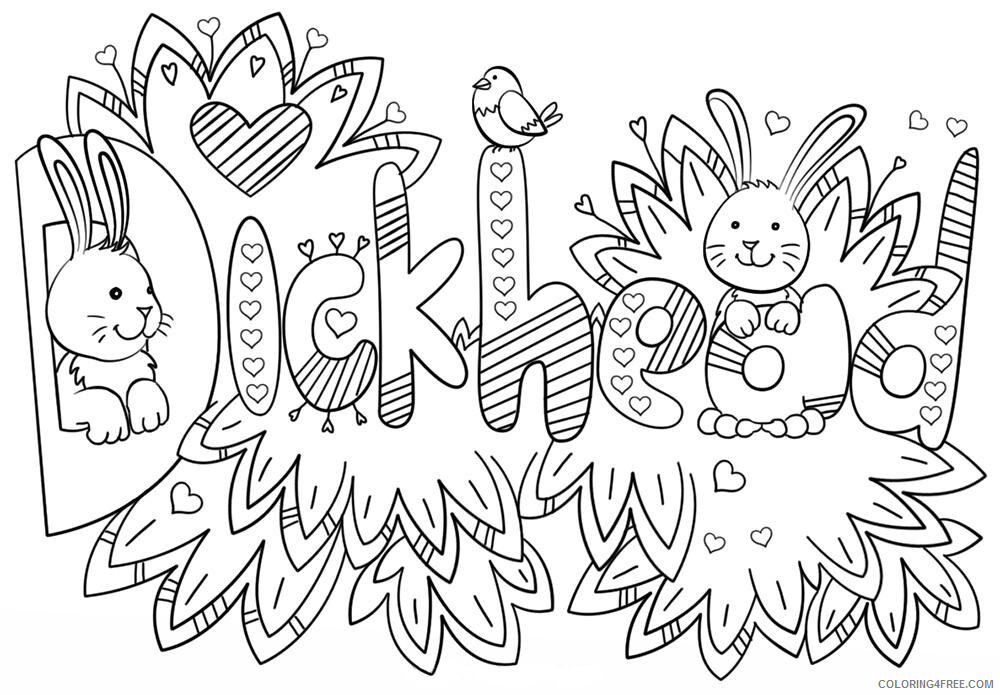 Funny Adult Coloring Pages Curse Word Printable 2020 626 Coloring4free -  Coloring4Free.com