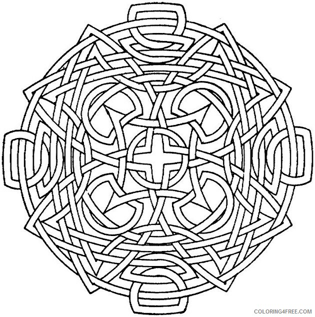 Geometric Design Coloring Pages Adult Fun Geometric Printable 2020 418 Coloring4free