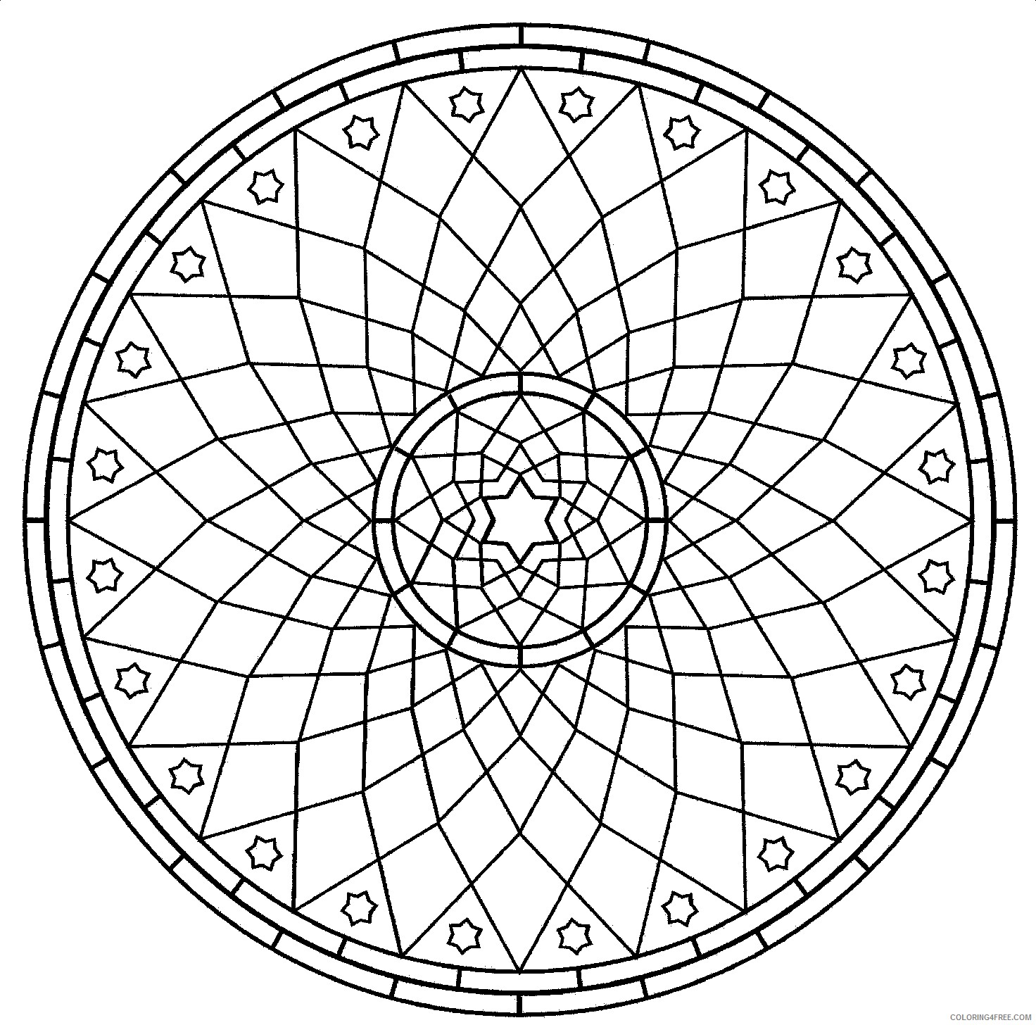 Geometric Design Coloring Pages Adult Geometric Art Printable 2020 420 Coloring4free