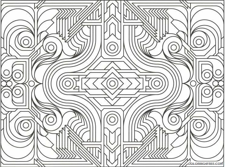 Geometric Design Coloring Pages Adult Geometric Design Printable 2020 439 Coloring4free