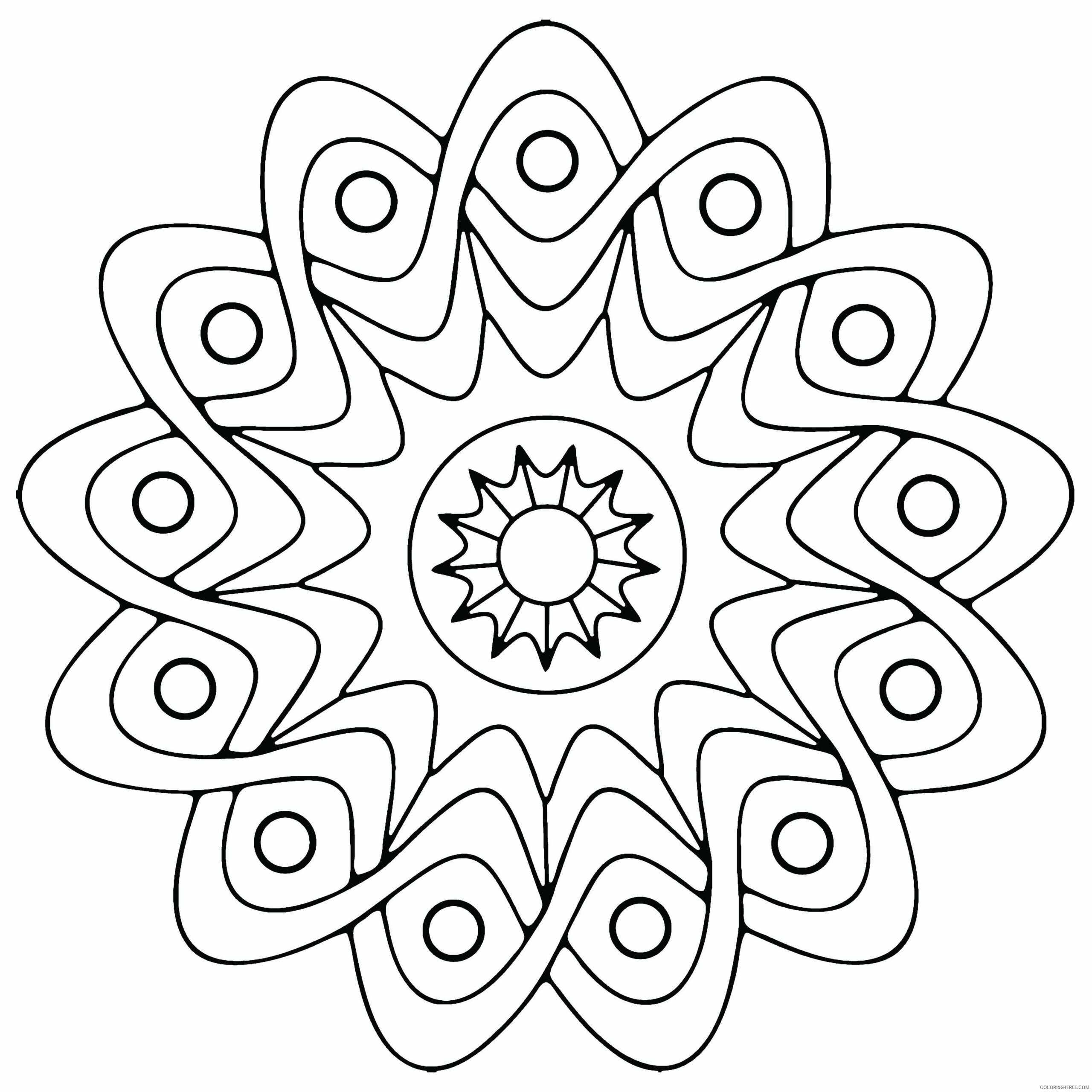 Geometric Design Coloring Pages Adult Geometric Free 2 Printable 2020 428 Coloring4free