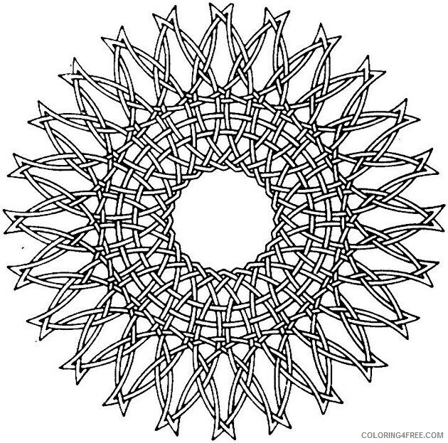 Geometric Design Coloring Pages Adult Geometric Pattern Printable 2020 455 Coloring4free
