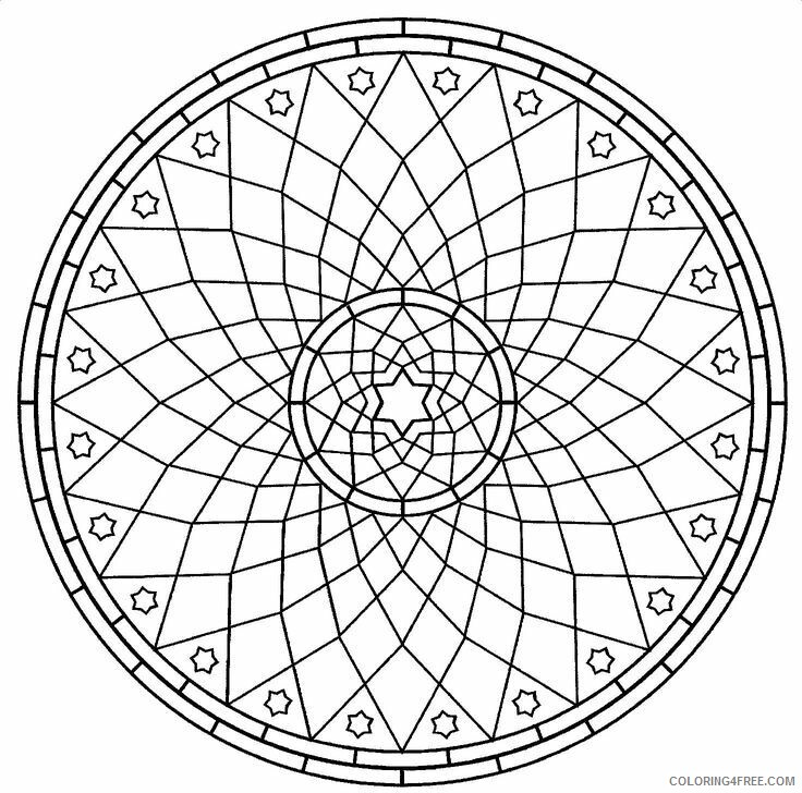 Geometric Design Coloring Pages Adult Geometric Shape Pattern Printable 2020 458 Coloring4free