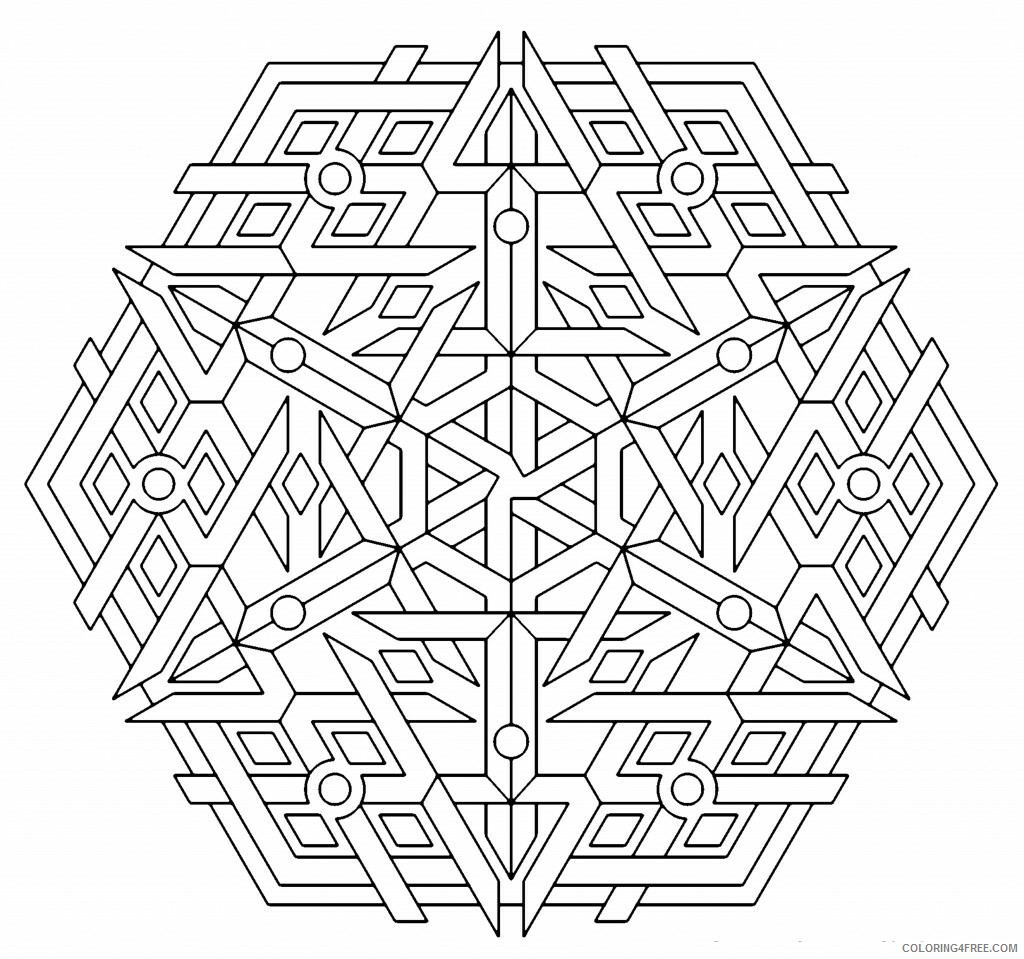 Geometric Design Coloring Pages Adult Geometric to Print 2 Printable 2020 431 Coloring4free