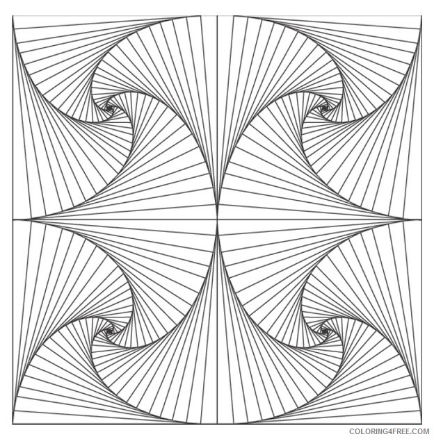 Geometric Design Coloring Pages Adult Geometric to Print Printable 2020 432 Coloring4free