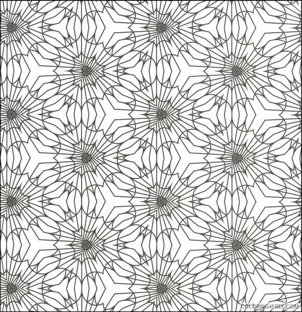 Geometric Design Coloring Pages Adult for Adults to Print Printable 2020 426 Coloring4free