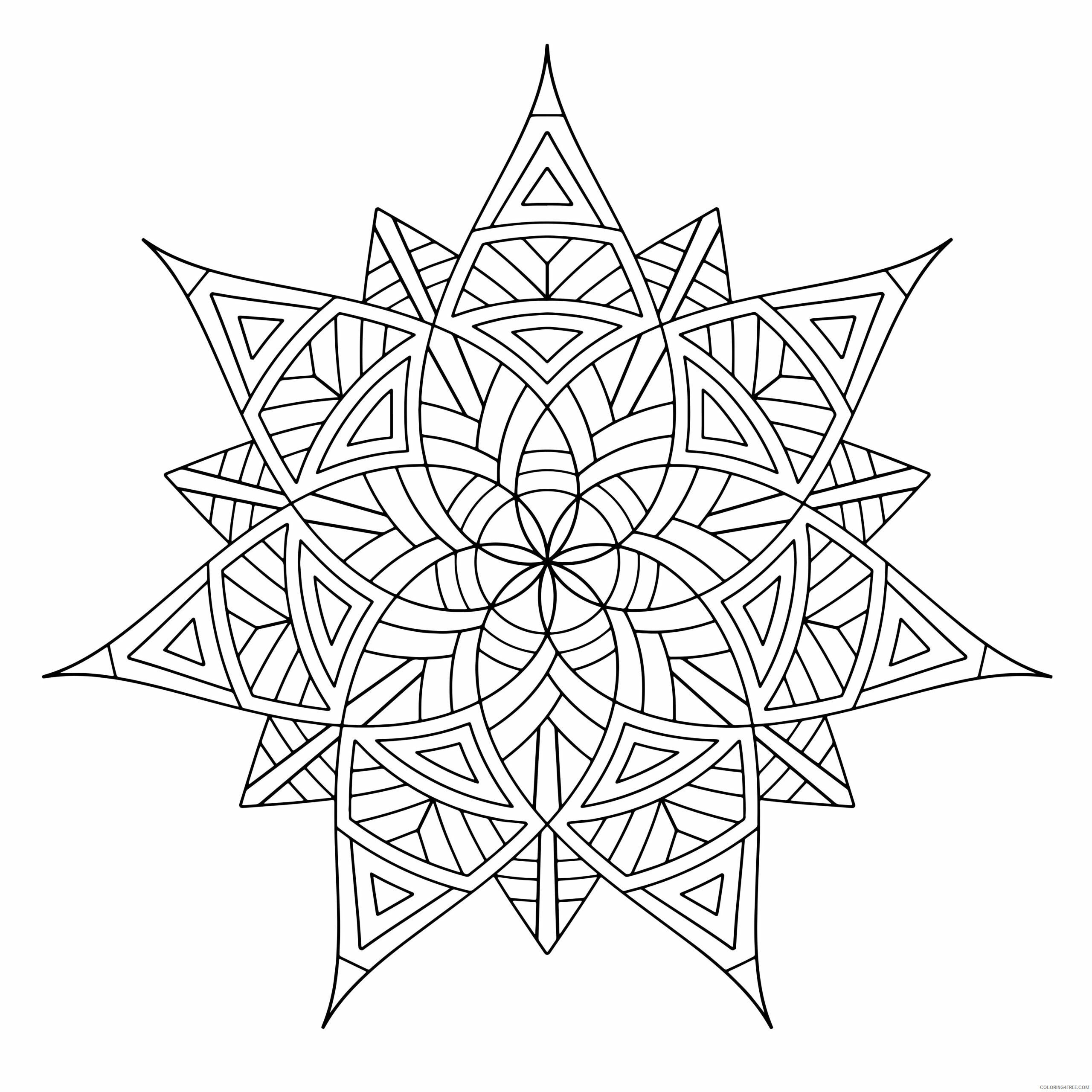Geometric Design Coloring Pages Adult free geometric Printable 2020 416 Coloring4free
