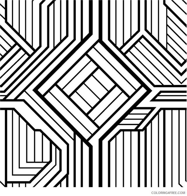 Geometric Design Coloring Pages Adult Geometric Colouring Printable 2020  435 Coloring4free - Coloring4Free.com