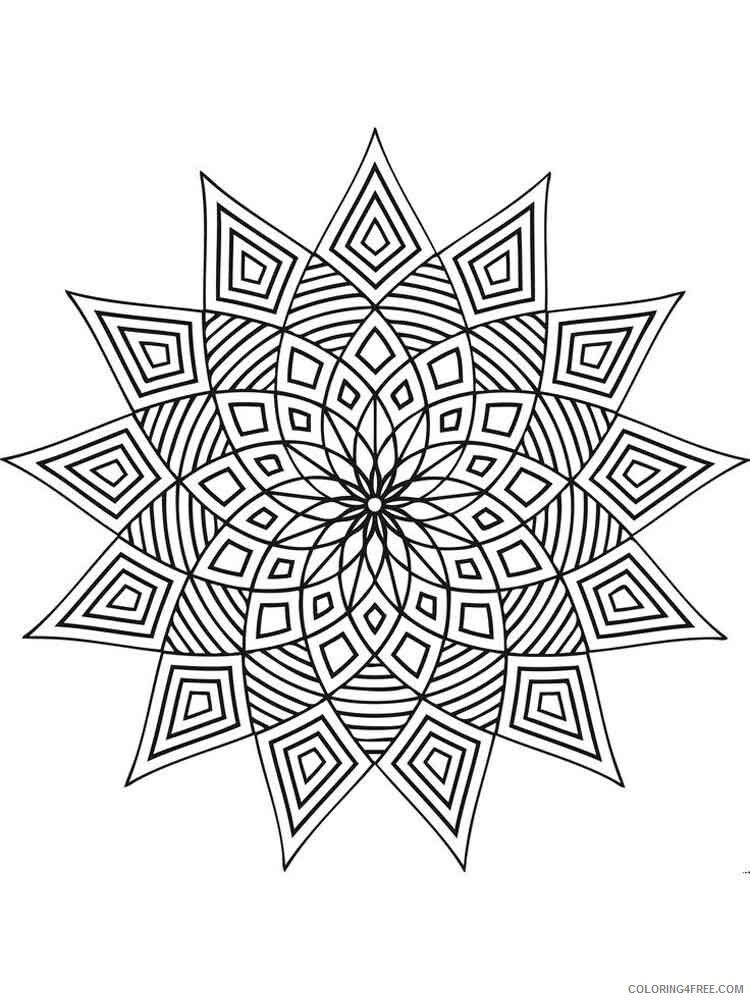 Geometric Design Coloring Pages Adult geometric design adult Printable 2020 440 Coloring4free