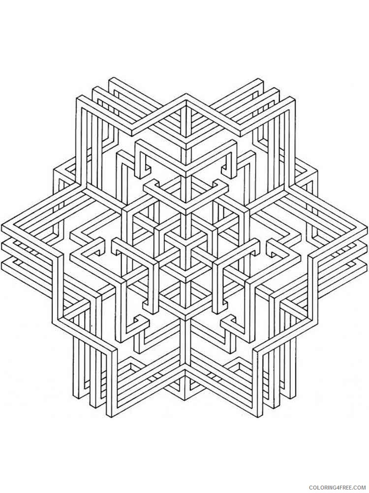 Geometric Design Coloring Pages Adult geometric design adult Printable 2020 443 Coloring4free