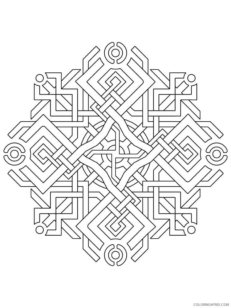Geometric Design Coloring Pages Adult geometric design adult Printable 2020 444 Coloring4free