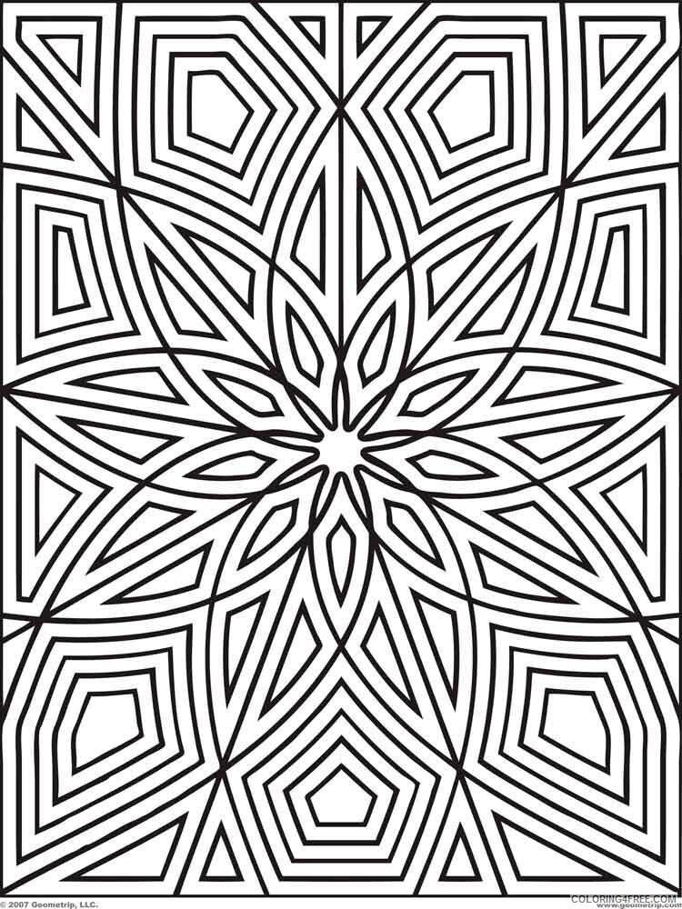 Geometric Design Coloring Pages Adult Geometric Design Adult Printable 2020  447 Coloring4free - Coloring4Free.com