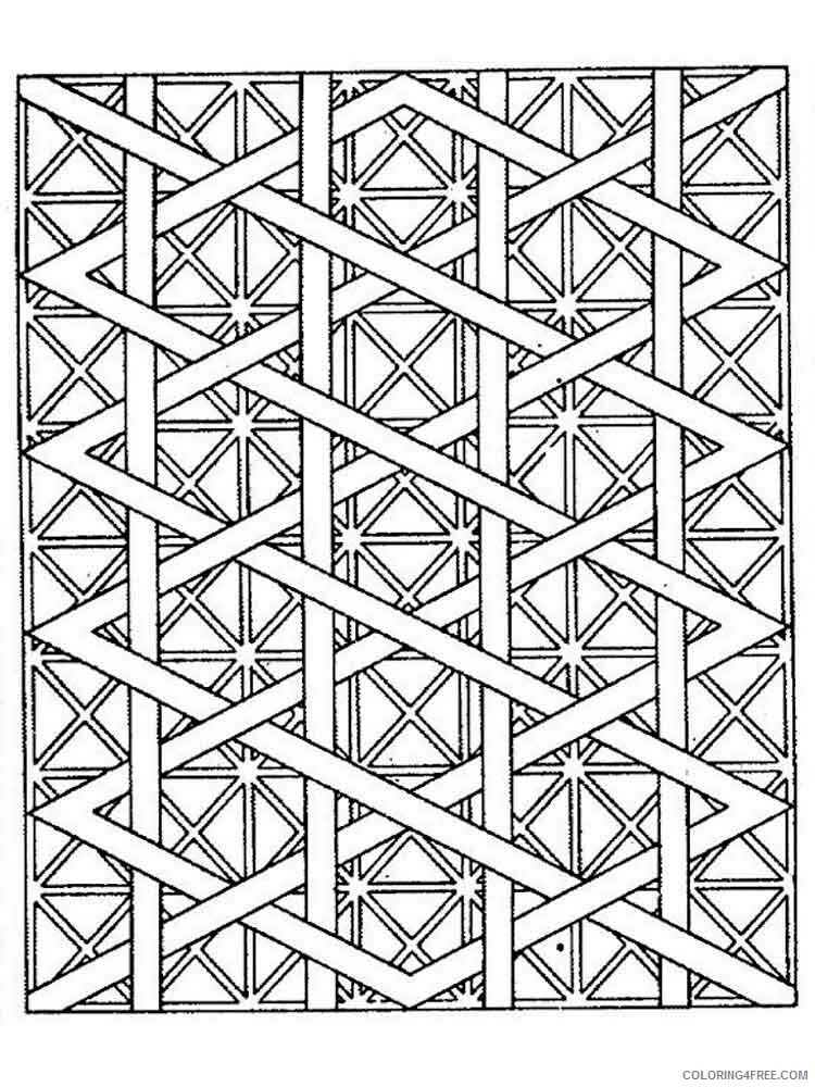Geometric Design Coloring Pages Adult geometric design adult Printable 2020 449 Coloring4free