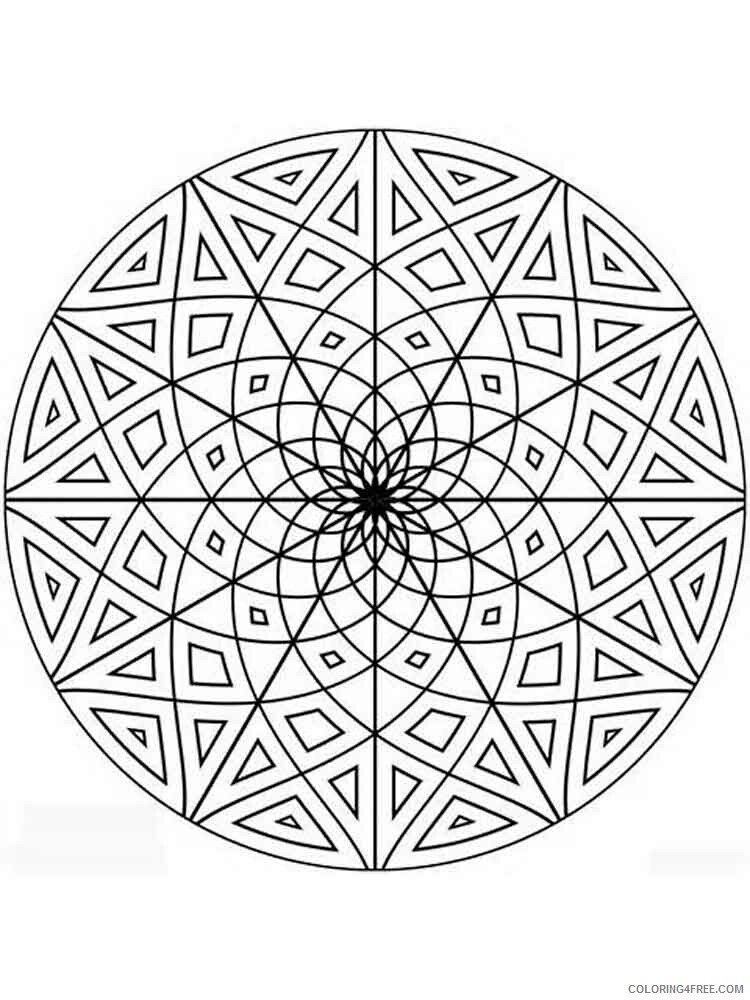 Geometric Design Coloring Pages Adult geometric design adult Printable 2020 450 Coloring4free