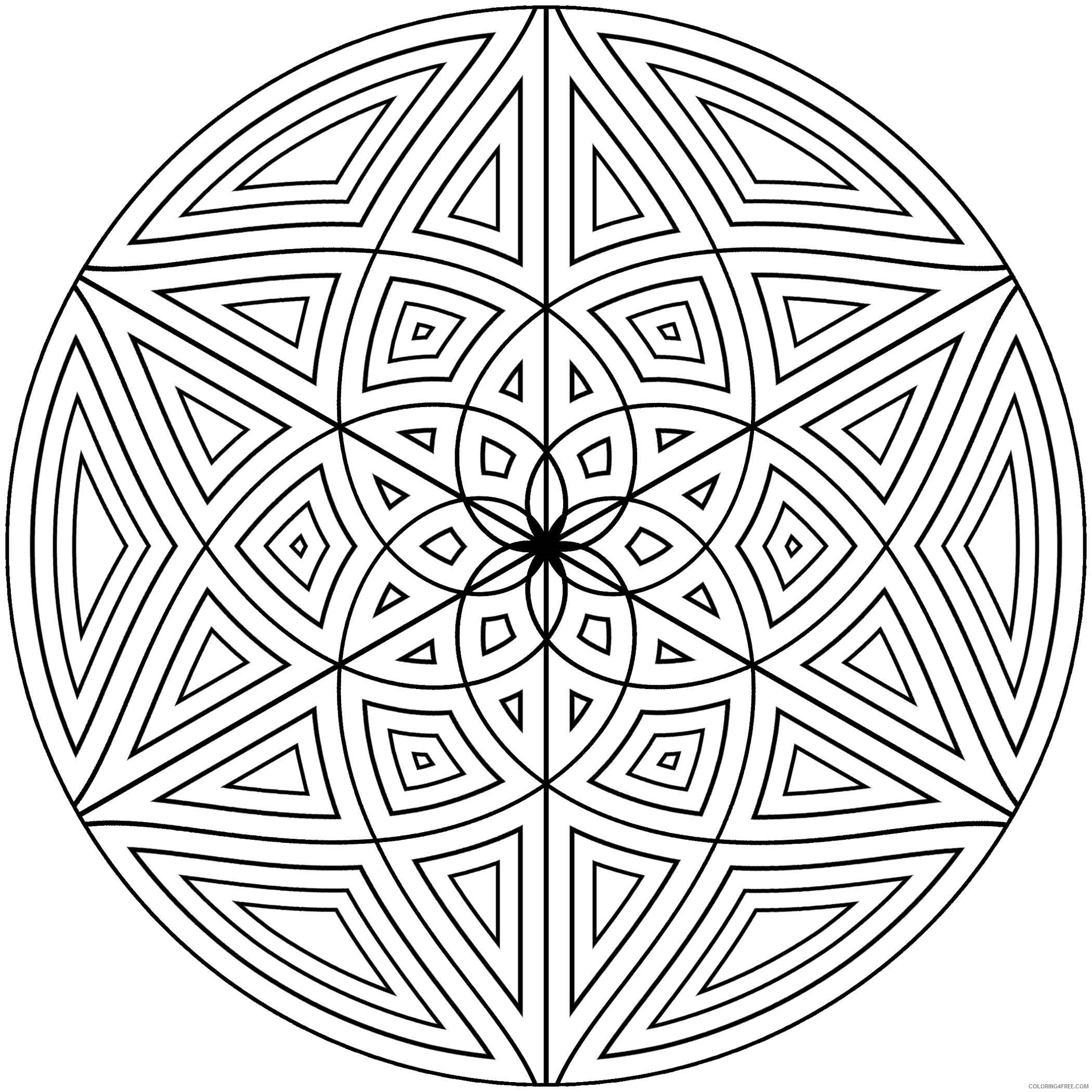 Geometric Design Coloring Pages Adult geometric designs to Printable 2020 453 Coloring4free