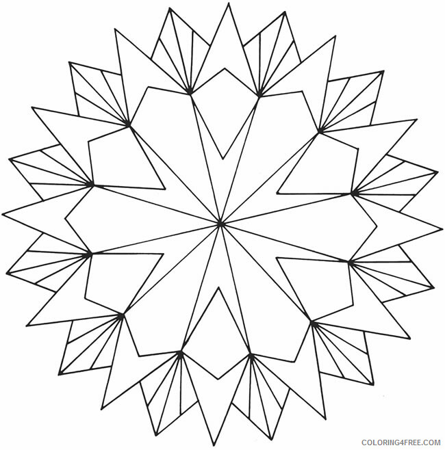 Geometric Design Coloring Pages Adult geometric for adults Printable 2020 424 Coloring4free